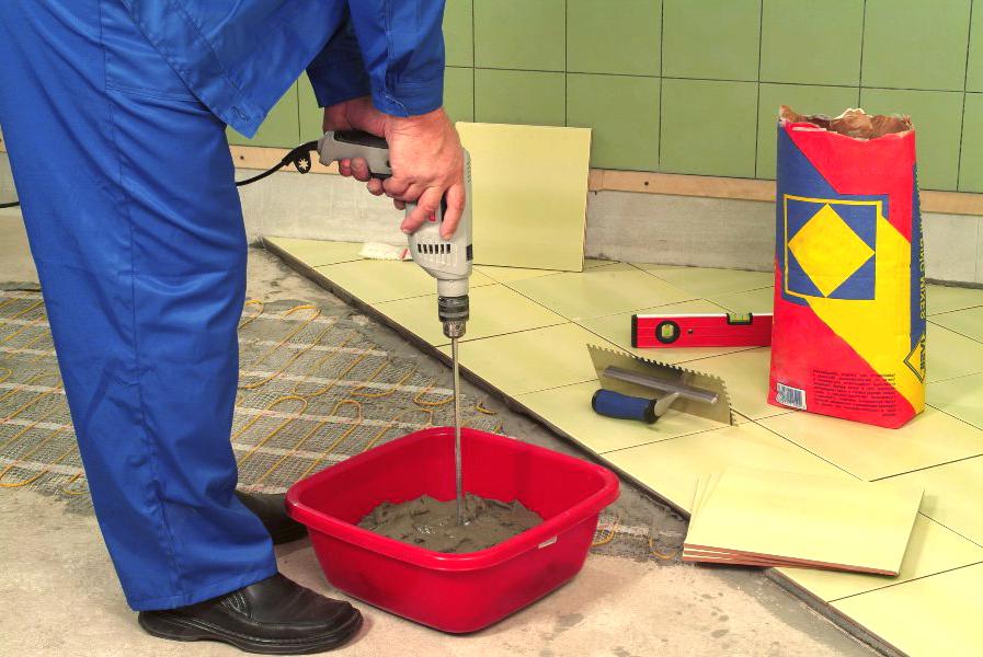 Клей для напольной плитки