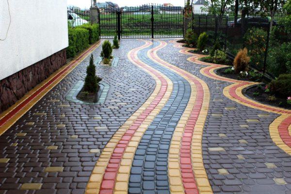 красивый узор для тротуарной плитки