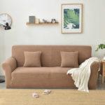 бежевы коричневый диван