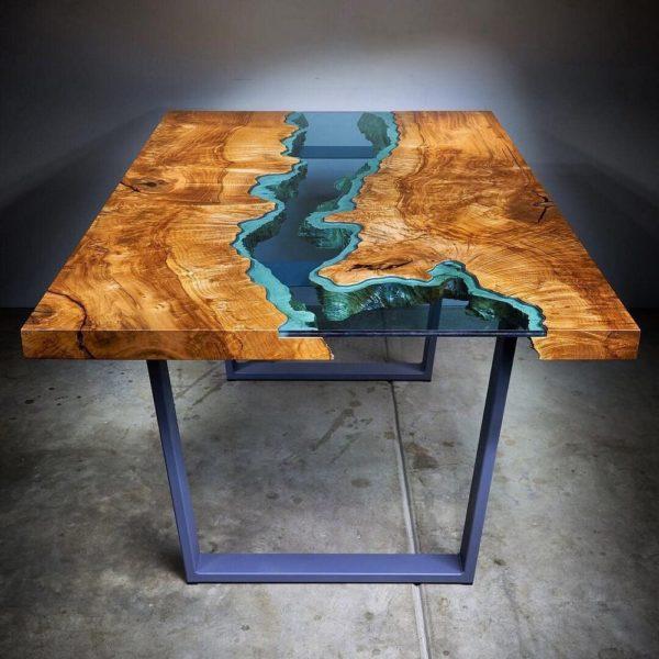 фото стола из эпоксидной смолы