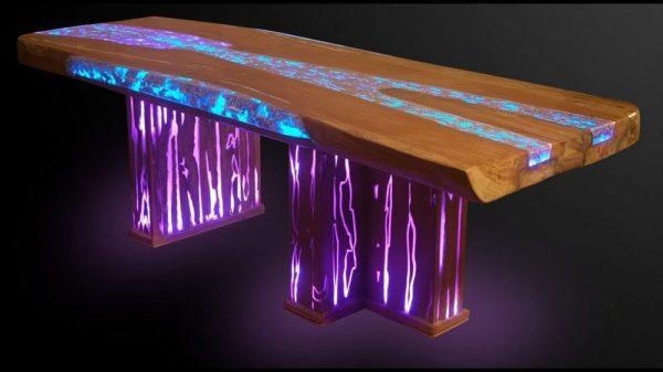 с подсветкой стол эпоксидный