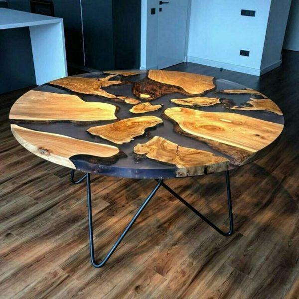 стол из эпоксидки фото